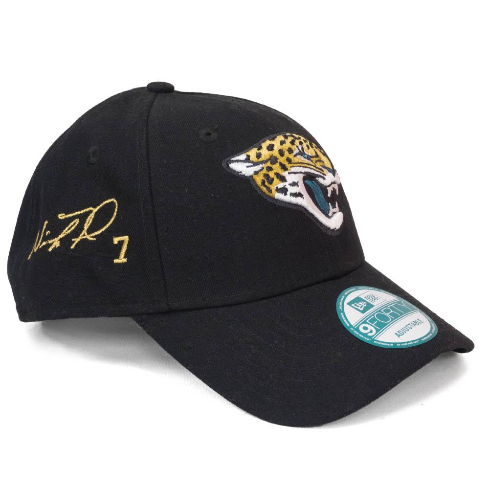 ニック・フォールズ キャップ/帽子 ジャガーズ NFL 9FORTY サイン刺繍入り アジャスタブル ニューエラ/New Era ブラック