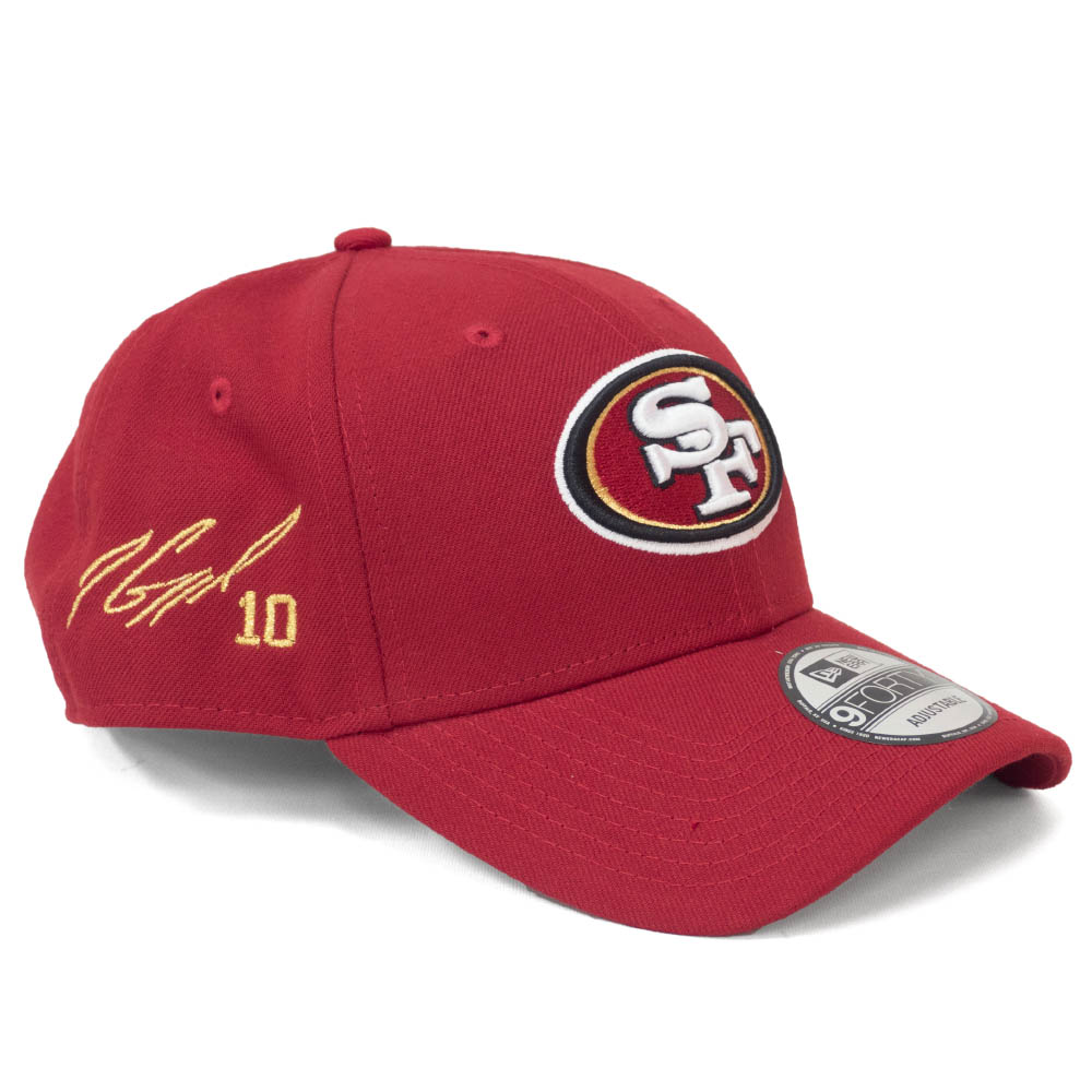 ジミー・ガロポロ キャップ/帽子 49ers NFL 9FORTY サイン刺繍入り アジャスタブル ニューエラ/New Era スカーレット