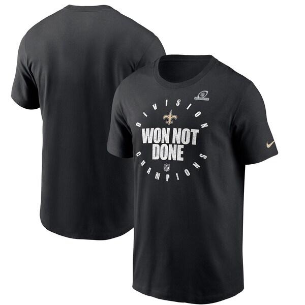 NFL2020NFC南地区優勝記念アイテム NFL Tシャツ 結婚祝い tシャツ 半袖 セインツ 限定モデル ブラック Nike NFLPO2020 2020NFC南地区優勝記念 ナイキ