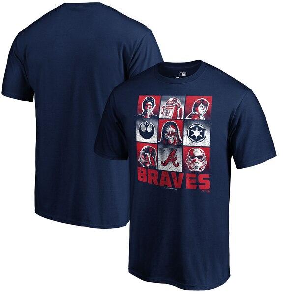 MLB ブレーブス Tシャツ スターウォーズ ネイビー【1910価格変更】【1112】
