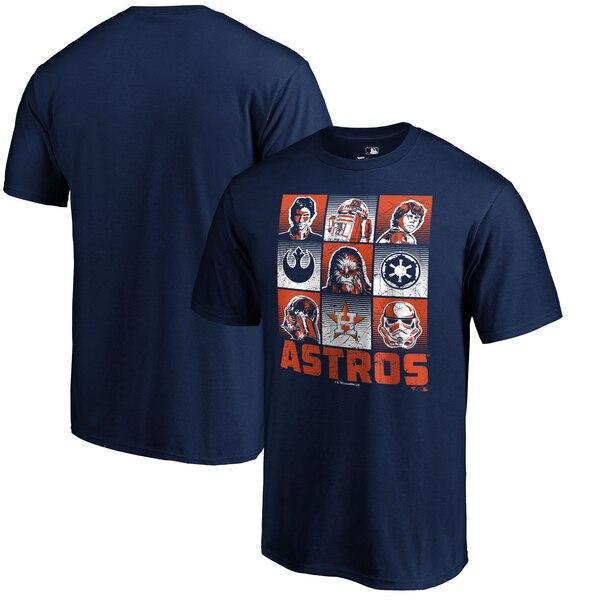 ワールドシリーズ進出 MLB アストロズ Tシャツ スターウォーズ ネイビー【1910価格変更】【1112】