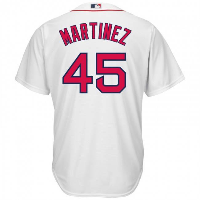 ペドロ・マルティネス ユニフォーム/ジャージ レッドソックス MLB マジェスティック/Majestic ホワイト