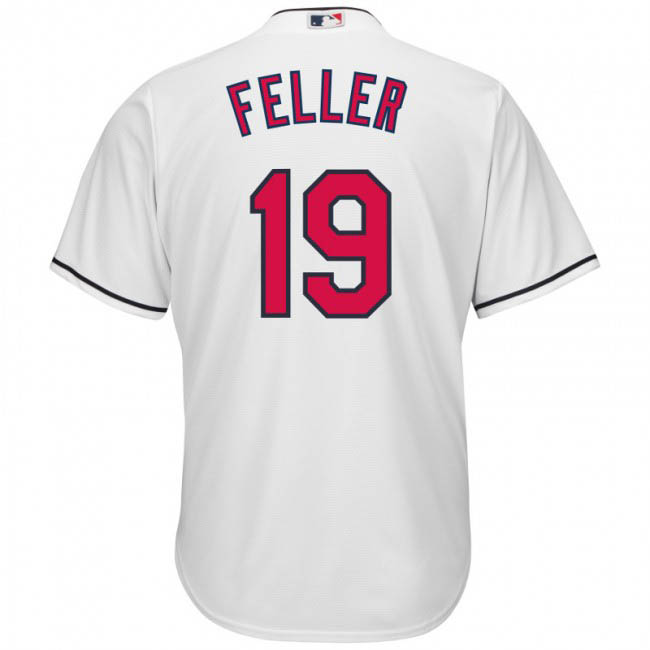 ボブ・フェラー ユニフォーム/ジャージ インディアンス MLB マジェスティック/Majestic ホワイト