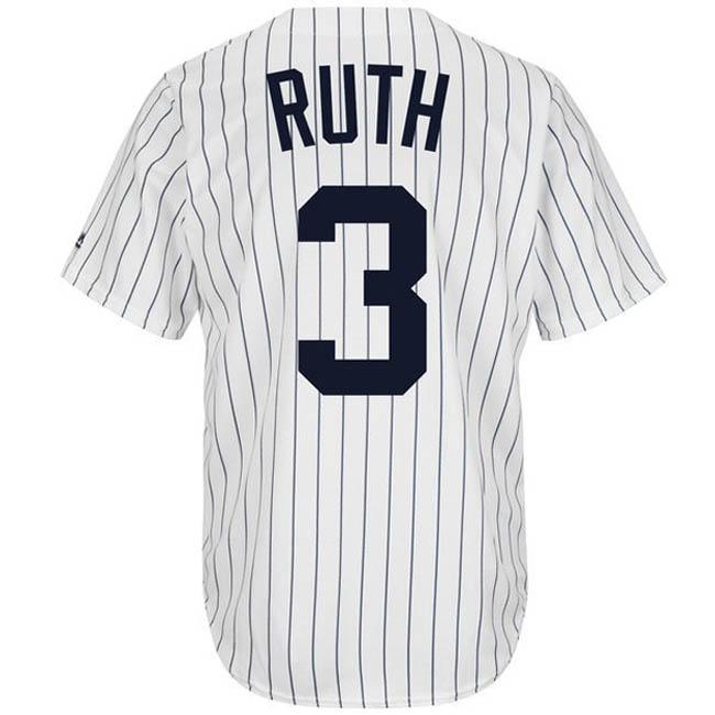 ベーブ・ルース ユニフォーム/ジャージ ヤンキース MLB マジェスティック/Majestic ホワイト ネイビー