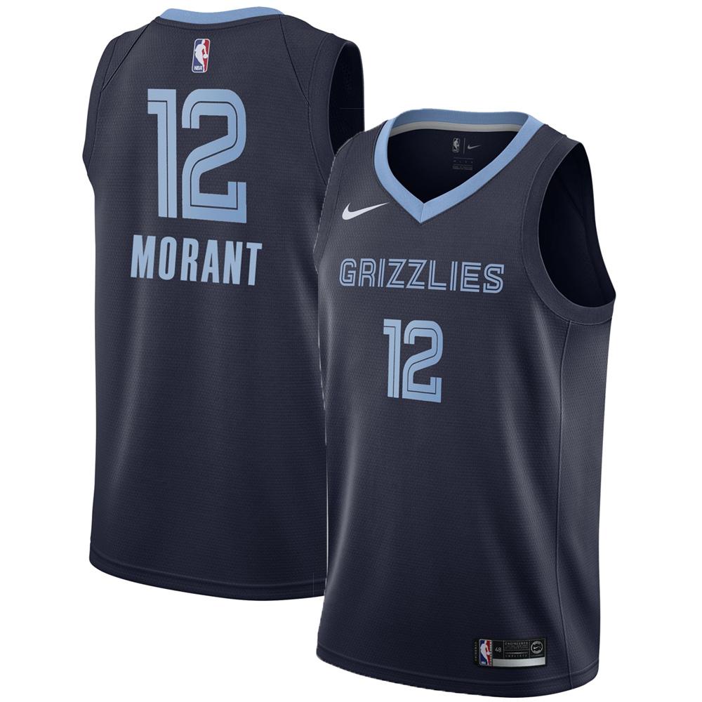 ジャ・モラント メンフィス・グリズリーズ ユニフォーム/ジャージ NBA アイコン エディション スウィングマン ナイキ/Nike