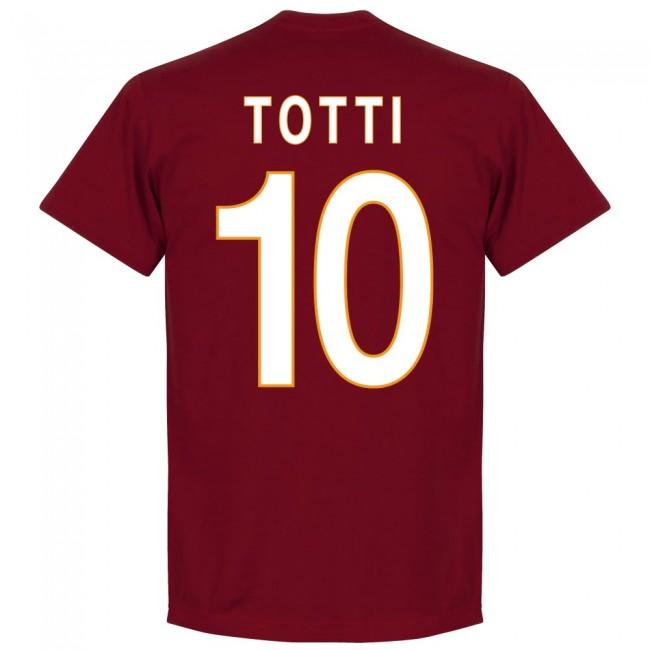 ASローマ フランチェスコ・トッティ Tシャツ SOCCER 背番号 サッカー/フットボール レッド
