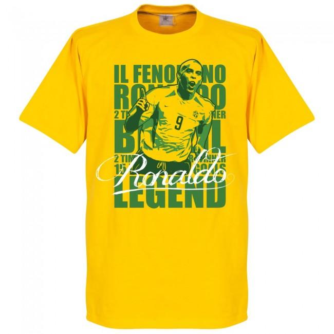 サッカー界のレジェンドが勢揃い グラフィックTシャツ ブラジル代表 新作 人気 ロナウド Tシャツ サッカー イエロー フットボール レジェンド SOCCER 好評受付中