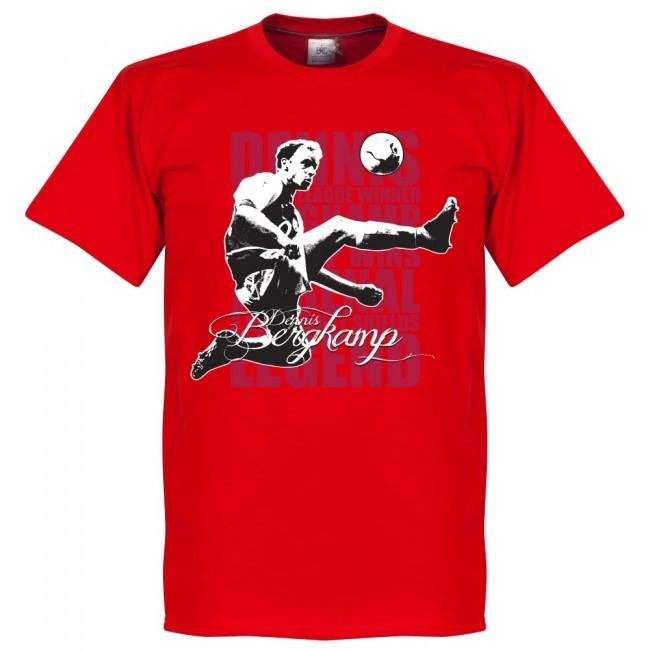 サッカー界のレジェンドが勢揃い グラフィックTシャツ アーセナル デニス ベルカンプ Tシャツ トレンド レッド SOCCER サッカー フットボール 最安値に挑戦 レジェンド