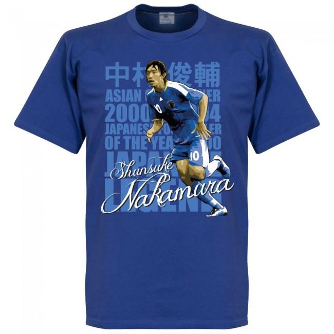 サッカー界のレジェンドが勢揃い 引出物 グラフィックTシャツ 日本代表 中村俊輔 Tシャツ SOCCER ブルー フットボール サッカー レジェンド 贈物