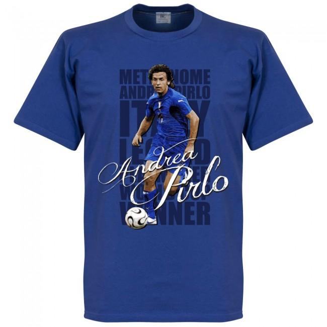イタリア代表 アンドレア・ピルロ Tシャツ SOCCER レジェンド サッカー/フットボール ブルー【1910価格変更】