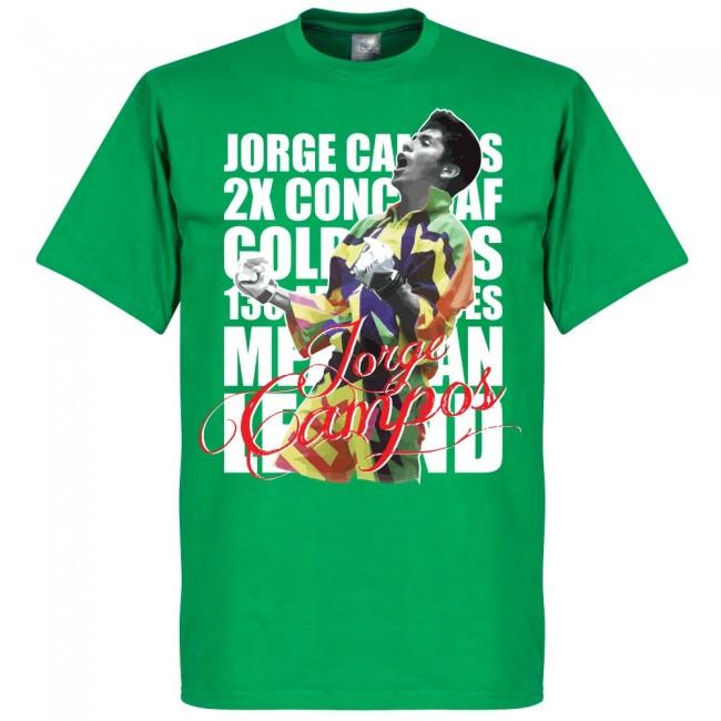 サッカー界のレジェンドが勢揃い グラフィックTシャツ メキシコ代表 ホルヘ 驚きの価格が実現 カンポス Tシャツ レジェンド グリーン フットボール サッカー 正規品スーパーSALE×店内全品キャンペーン SOCCER