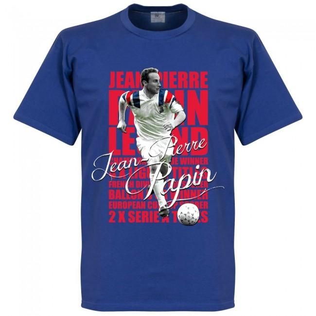 フランス代表 ジャン=ピエール・パパン Tシャツ SOCCER レジェンド サッカー/フットボール ブルー【1910価格変更】