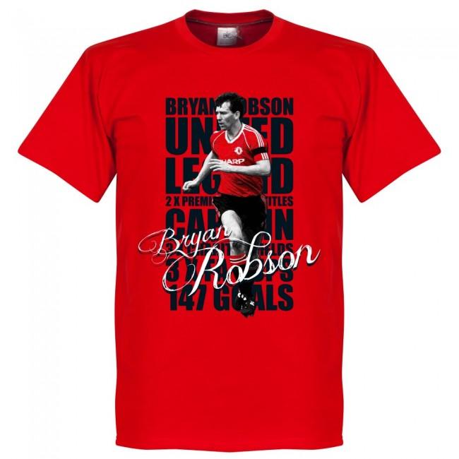 マンチェスター・ユナイテッド ブライアン・ロブソン Tシャツ SOCCER レジェンド サッカー/フットボール レッド【1910価格変更】