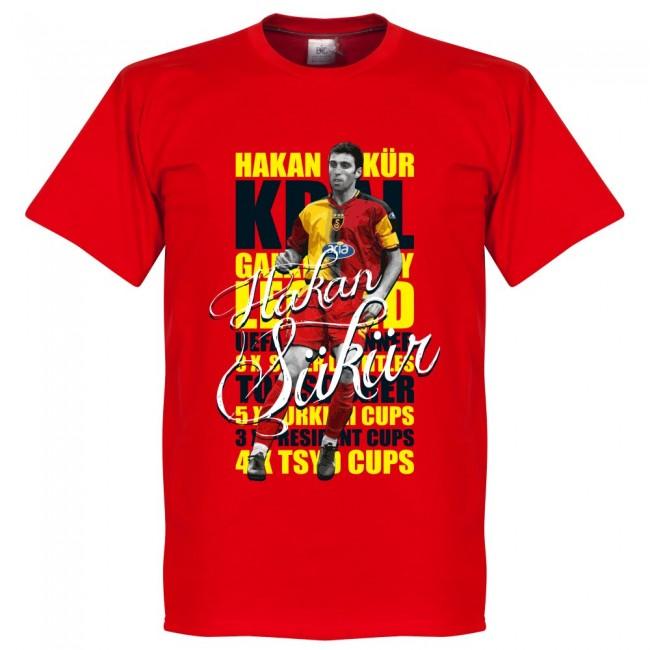 ガラタサライ ハカン・シュクル Tシャツ SOCCER レジェンド サッカー/フットボール レッド【1910価格変更】