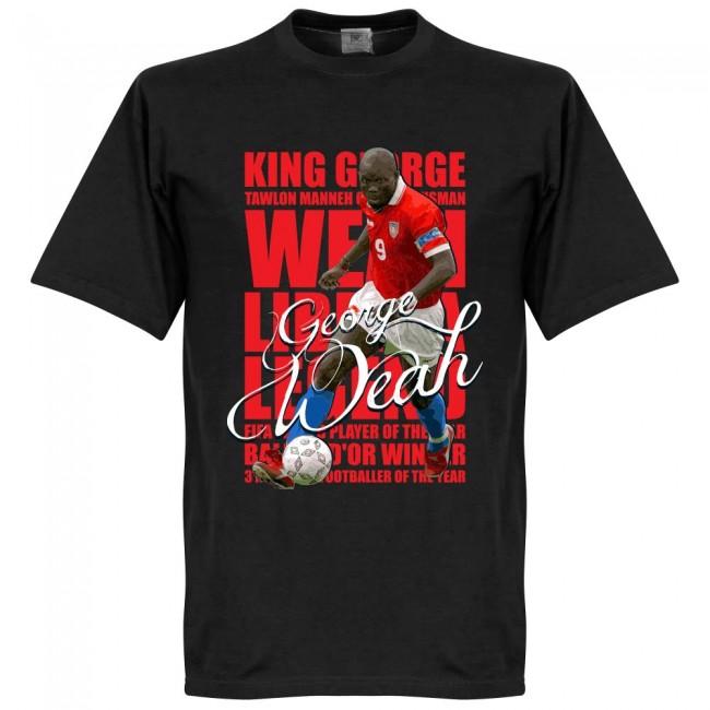 サッカー界のレジェンドが勢揃い 激安特価品 グラフィックTシャツ リベリア代表 ジョージ ウェア Tシャツ フットボール レジェンド SOCCER サッカー 本日の目玉 ブラック