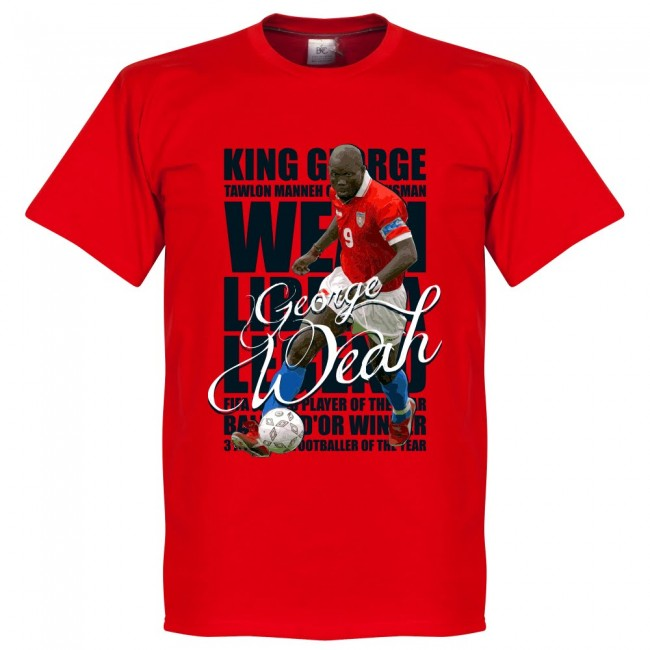 リベリア代表 ジョージ・ウェア Tシャツ SOCCER レジェンド サッカー/フットボール レッド【1910価格変更】