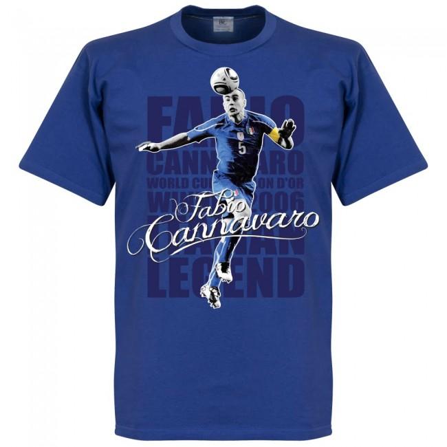 サッカー界のレジェンドが勢揃い グラフィックTシャツ イタリア代表 ファビオ カンナヴァーロ 新作送料無料 Tシャツ SOCCER レジェンド 初売り ブルー フットボール サッカー