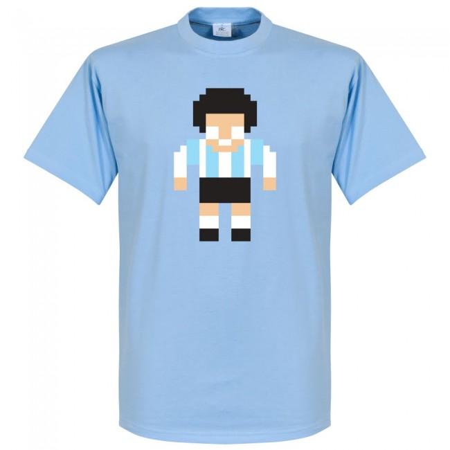 サッカー界のレジェンドが勢揃い 2020モデル グラフィックTシャツ アルゼンチン代表 マラドーナ 予約 Tシャツ フットボール SOCCER サッカー ピクセル ブルー