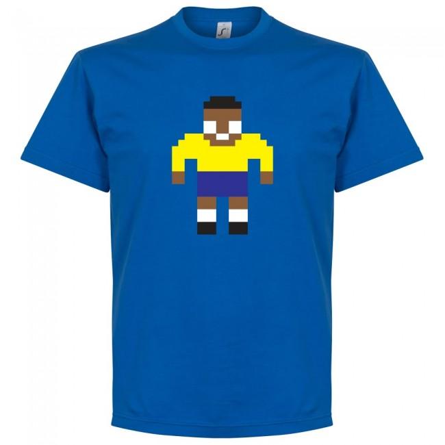 サッカー界のレジェンドが勢揃い グラフィックTシャツ ブラジル代表 新作 大人気 ペレ Tシャツ サッカー SOCCER ロイヤル 商品追加値下げ在庫復活 ピクセル フットボール