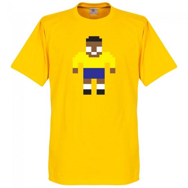 ブラジル代表 ペレ Tシャツ SOCCER ピクセル サッカー/フットボール イエロー【1910価格変更】