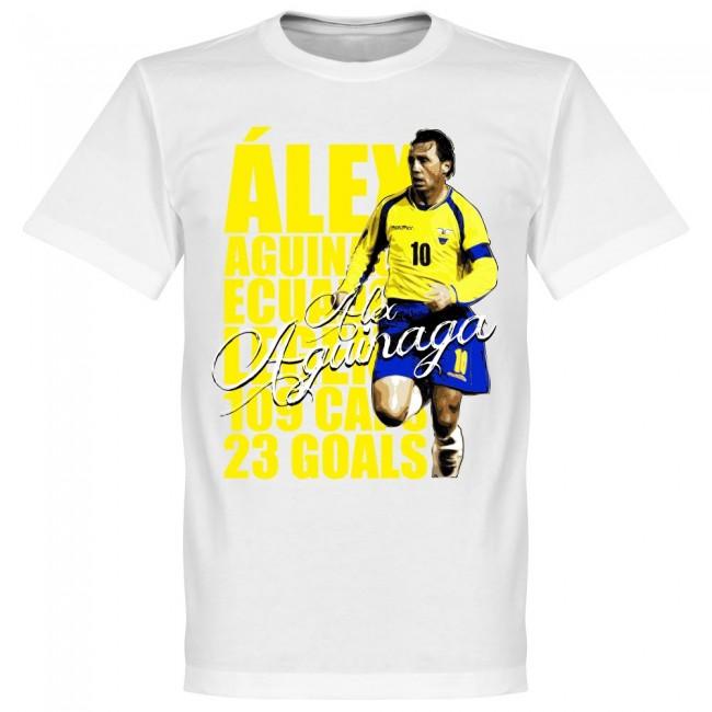 エクアドル代表 アレックス・アギナガ Tシャツ SOCCER レジェンド サッカー/フットボール ホワイト【1910価格変更】