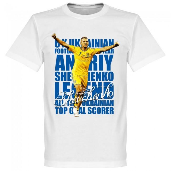 ウクライナ代表 アンドリュー・シェフチェンコ Tシャツ SOCCER レジェンド サッカー/フットボール ホワイト【1910価格変更】