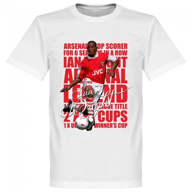 サッカー界のレジェンドが勢揃い グラフィックTシャツ アーセナル イアン ライト 返品不可 Tシャツ レジェンド フットボール 買い取り サッカー ホワイト SOCCER