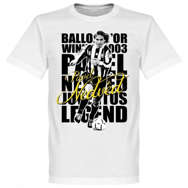 ユベントス パベル・ネドベド Tシャツ SOCCER レジェンド サッカー/フットボール ホワイト【1910価格変更】