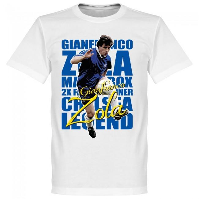 サッカー界のレジェンドが勢揃い グラフィックTシャツ チェルシー ジャンフランコ ゾラ Tシャツ レジェンド 2020新作 SOCCER ホワイト 低価格 サッカー フットボール