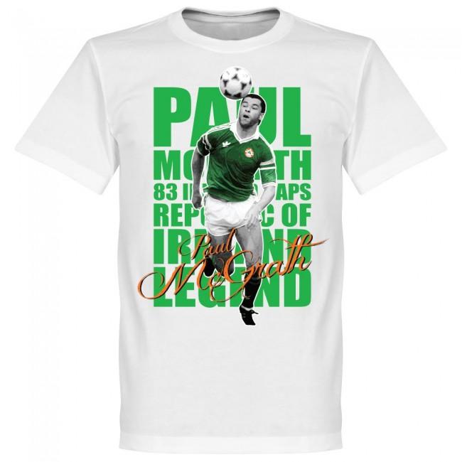 サッカー界のレジェンドが勢揃い グラフィックTシャツ アイルランド代表 ポール マグラー 新作 人気 特価キャンペーン Tシャツ レジェンド ホワイト SOCCER サッカー フットボール