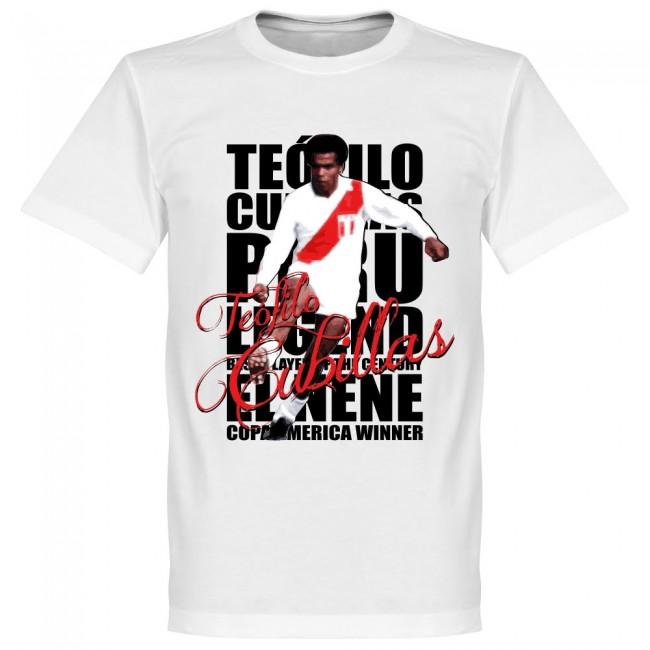サッカー界のレジェンドが勢揃い 激安格安割引情報満載 未使用品 グラフィックTシャツ ペルー代表 テオフィロ クビジャス Tシャツ ホワイト SOCCER サッカー フットボール レジェンド