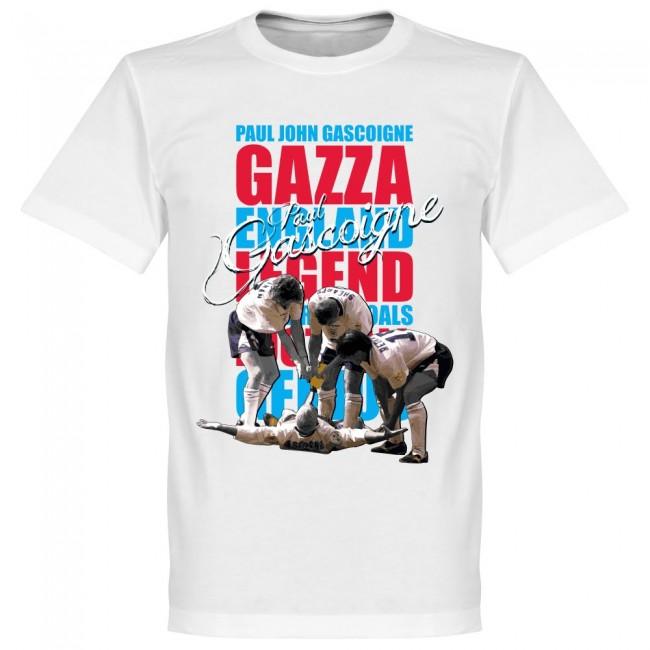イングランド代表 ポール・ガスコイン Tシャツ SOCCER レジェンド サッカー/フットボール ホワイト【1910価格変更】
