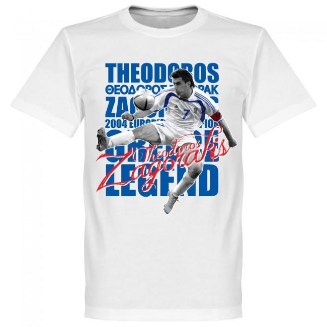 ギリシャ代表 テオドロス・ザゴラキス Tシャツ SOCCER レジェンド サッカー/フットボール ホワイト【1910価格変更】