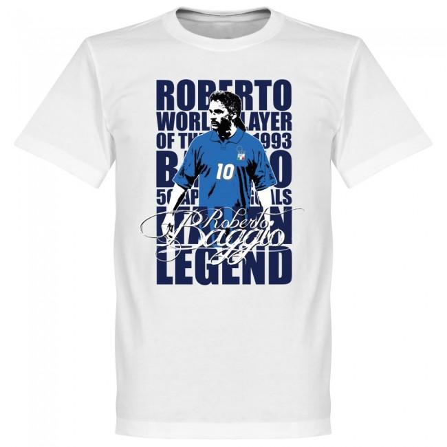 サッカー界のレジェンドが勢揃い グラフィックTシャツ イタリア代表 ロベルト 信頼 バッジョ Tシャツ ホワイト 《週末限定タイムセール》 SOCCER サッカー フットボール レジェンド