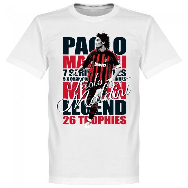 サッカー界のレジェンドが勢揃い グラフィックTシャツ ACミラン パオロ 受注生産品 マルディーニ Tシャツ SOCCER レジェンド フットボール ホワイト サッカー セール品