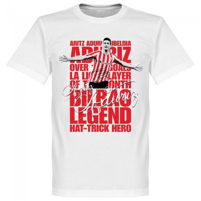 サッカー界のレジェンドが勢揃い グラフィックTシャツ アスレティック ビルバオ 期間限定特価品 アリツ アドゥリス ホワイト フットボール SOCCER レジェンド お買い得品 Tシャツ サッカー