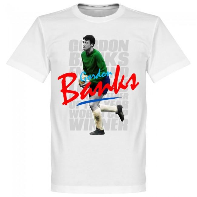 サッカー界のレジェンドが勢揃い グラフィックTシャツ イングランド代表 ブランド買うならブランドオフ ゴードン バンクス Tシャツ レジェンド ギフト プレゼント ご褒美 SOCCER サッカー ホワイト フットボール