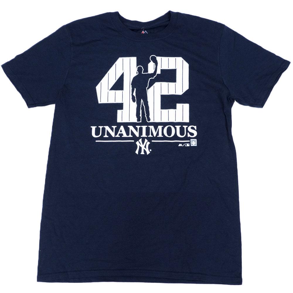 マリアノ・リベラ ヤンキース MLB Tシャツ 2019 殿堂入り記念 ウナニマウス マジェスティック/Majestic Navy 【1910価格変更】【1112】