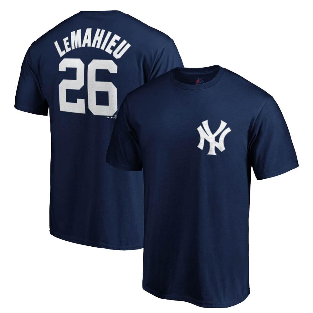DJ・ルメイユ ヤンキース MLB Tシャツ プレイヤー ネーム&ナンバー マジェスティック/Majestic ネイビー【1910価格変更】【1112】