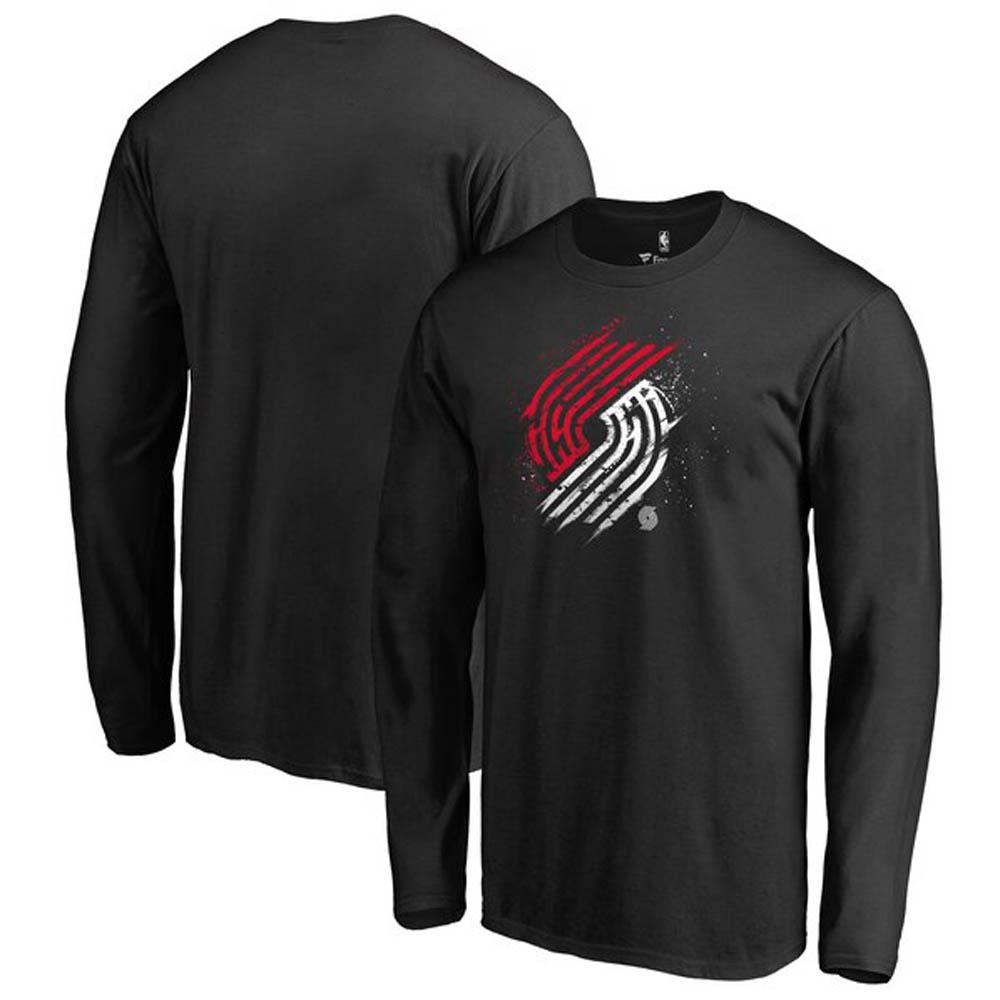 NBA トレイルブレイザーズ Tシャツ ロングスリーブ ブラック