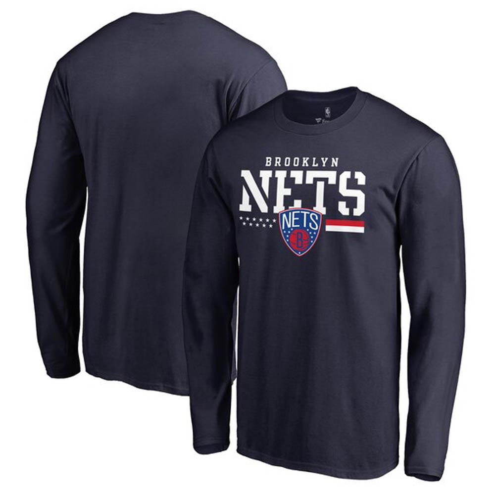 NBA Tシャツ ネッツ ロングスリーブ ロンT ネイビー【1911NBAt】