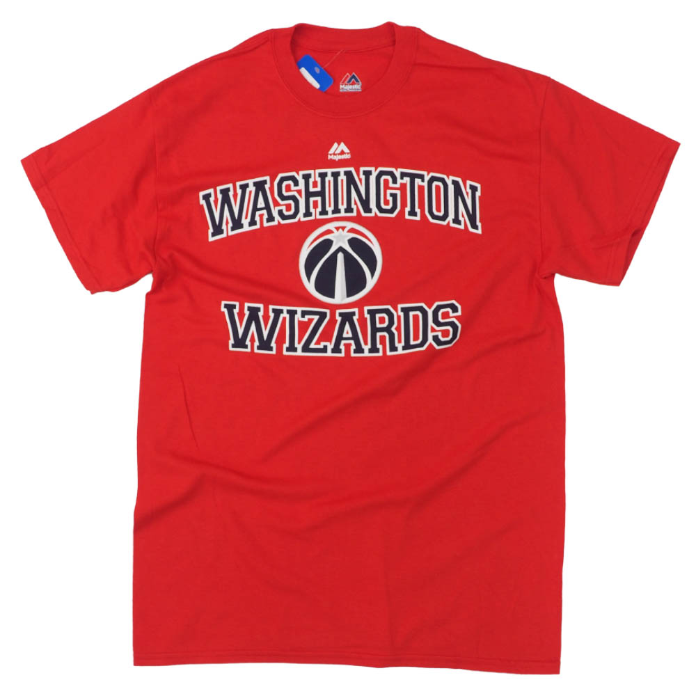 buy popular 9695a 6f3cd Eight village fort player position Wizards T-shirt NBA majestic /Majestic  red