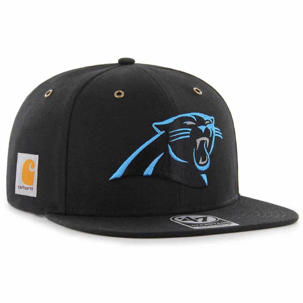 NFL パンサーズ キャップ/帽子 STRAP カーハート X 47 CAPTAIN 47Brand ブラック【1910価格変更】【191028変更】