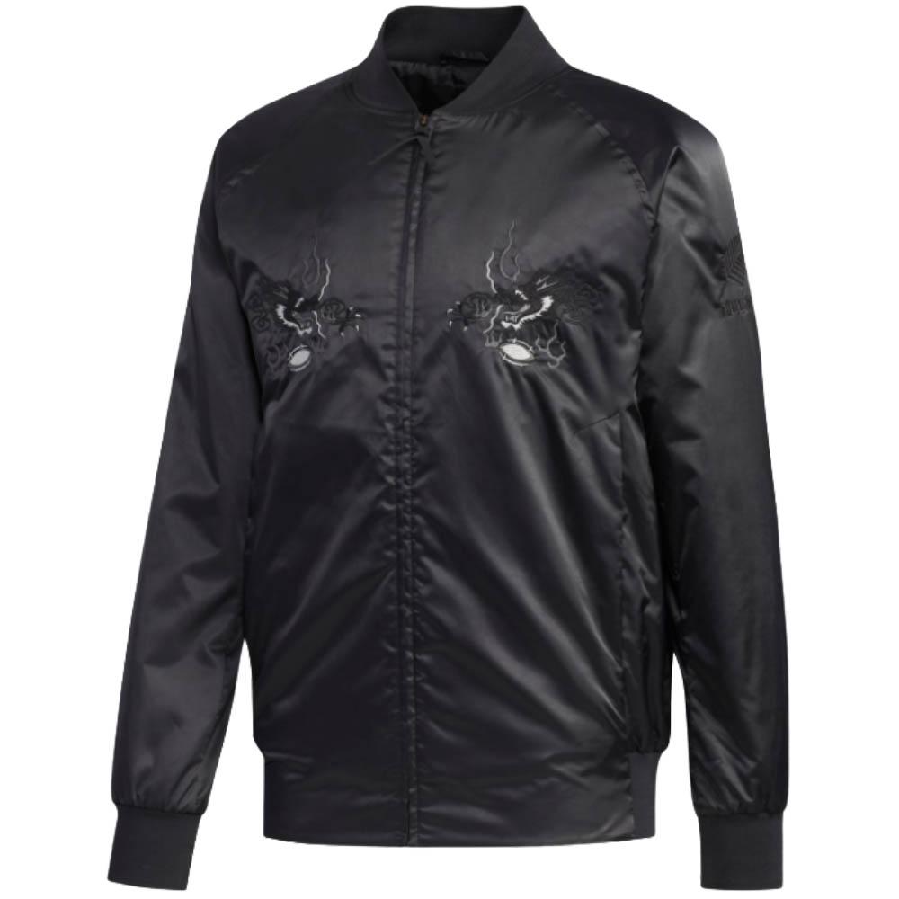 RUGBY ジャケット/アウター ラグビー オールブラックス 日本限定 スカジャン アディダス/Adidas ブラック