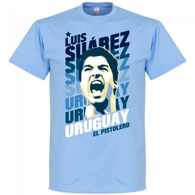 ウルグアイ代表 ルイス・スアレス Tシャツ SOCCER ポートレイト ブルー【1910価格変更】