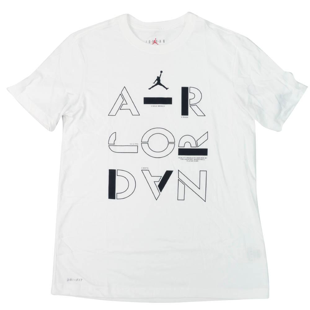 ナイキ ジョーダン/NIKE JORDAN Tシャツ マイケルジョーダン ステンシル クルー ホワイト AT8930-100【1910価格変更】