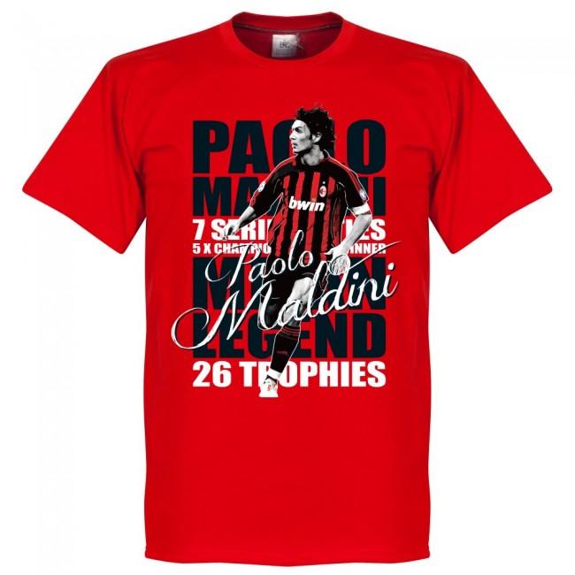 新色 サッカー界のレジェンドが勢揃い グラフィックTシャツ ACミラン パオロ マルディーニ Tシャツ レッド フットボール レジェンド セールSALE%OFF SOCCER サッカー