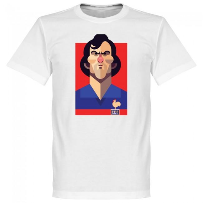 フランス代表 ミシェル・プラティニ Tシャツ SOCCER プレイメーカー ホワイト【1910価格変更】