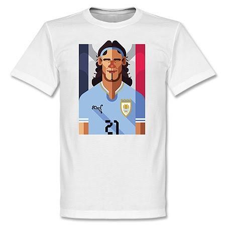 ウルグアイ代表 エディンソン・カバーニ Tシャツ SOCCER プレイメーカー ホワイト【1910価格変更】