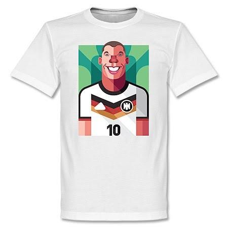 ドイツ代表 ルーカス・ポドルスキ Tシャツ SOCCER プレイメーカー ホワイト【1910価格変更】